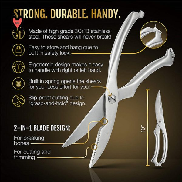Stainless Steel Poultry Scissors 11