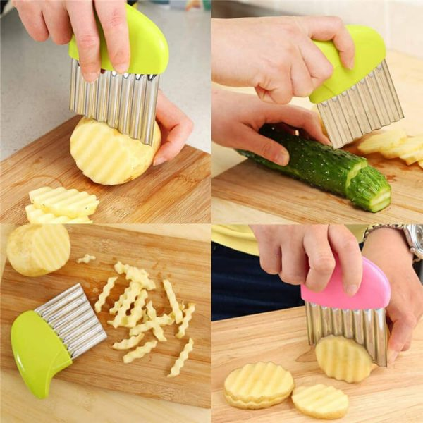 Vegetable Wavy Crinkle Chopper Knife